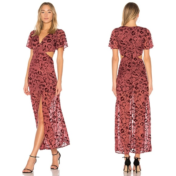 c54a489972 Lovers + Friends Dresses   Skirts - Lovers + Friends Tatum Sangria Floral  Maxi Dress